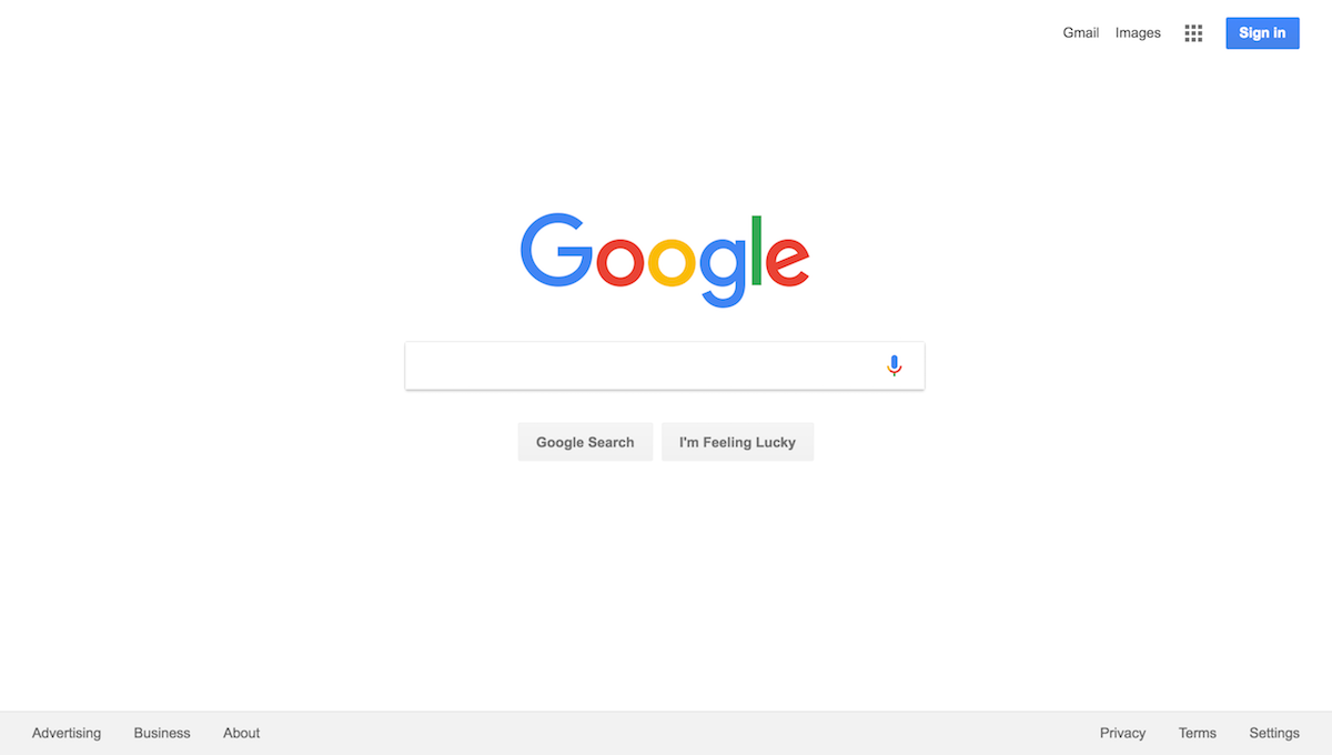 google web search image